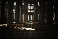 精细教堂室内场景建筑