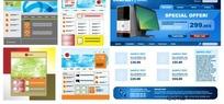 网页模板矢量素材