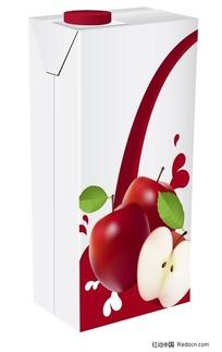 苹果果汁饮料包装矢量素材