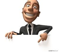 手指展示笔记本3d卡通商务人物图片