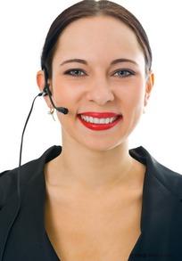 微笑的外国接线员
