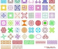 54种古典边框花纹