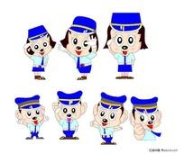 韩国卡通警察形象
