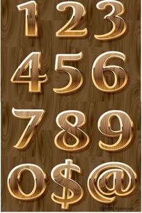 金边立体数字符号