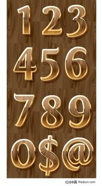 立体数字符号矢量素材