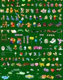 200款可爱小卡通头像psd素材