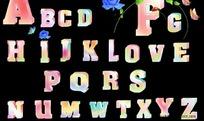 26个英文字母psd分层素材