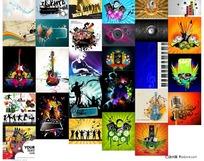 潮流设计音乐元素矢量图