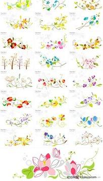 25款花纹花卉图案矢量素材