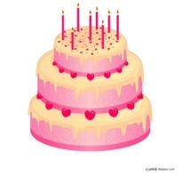 点燃蜡烛的红色蛋糕