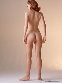 站立的裸体美女
