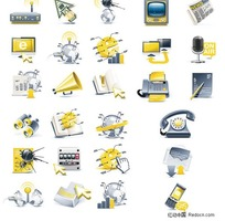 科技主题立体图标矢量素材
