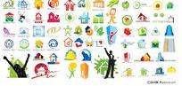 房子主题logo图形矢量素材
