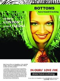 绿色主题外国画册设计版式