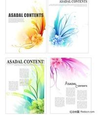花朵主题画册排版