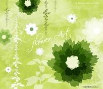 绿色水墨风格底纹背景