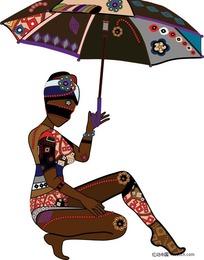 纹身的非洲美女