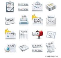 报纸图标矢量素材