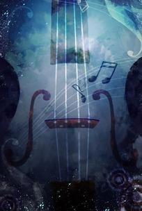 吉他背景-音乐主题背景