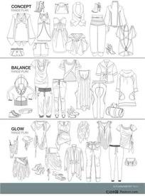 服装设计模板3