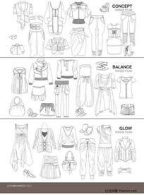 服装设计模板4