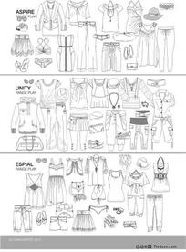 服装设计模板6