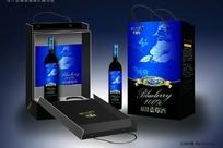 阿里郎蓝莓酒包装效果图