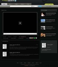 一款视频分享网站css xhtml网页模板