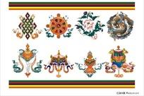 西藏吉祥八宝图案