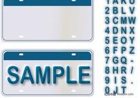 朴素的数字和字母矢量素材