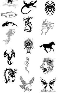 各种各样的动物图案