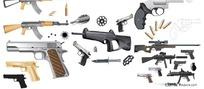 枪支弹药矢量素材