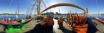 360全景图-船上甲板风景