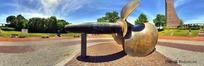 360全景图-广场上的螺旋桨