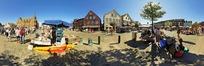 360全景图-海边小镇风景区
