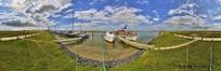 360全景图-河边的小码头
