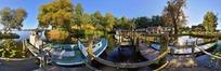 360全景图-河边游船码头