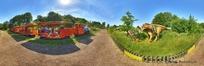 360全景图-恐龙公园里的游览车