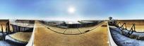 360全景图-拦河大坝码头