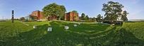 360全景图-绿色草地上的建筑