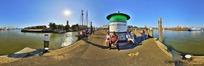 360全景图-码头上的人物