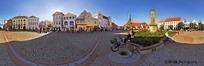 360全景图-欧洲城镇的一角