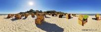 360全景图-沙滩上的情侣座位