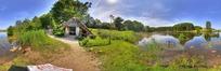 360全景图-湿地游览区的小房子