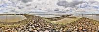 360全景图-石头拦河大堤