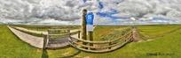 360全景图-天空下的草原道路