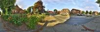 360全景图-小镇道路两边的建筑
