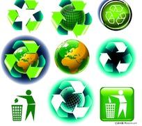 地球环保主题矢量素材