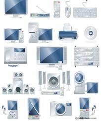 电子办公产品矢量素材