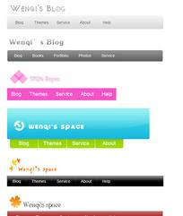 CSS-menu简洁风格菜单